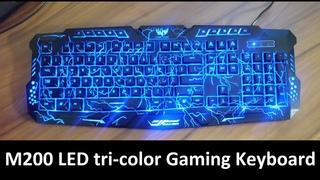m200 Gaming Keyboard LED распаковка и обзор