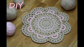 КОВРИК КРЮЧКОМ мастер класс вязание для начинающих ЧАСТЬ 1 CROCHET How to crochet doily