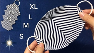 How to sew a 3D mask in 4 minutes/Anyone who has never sewed can sew this pattern/ it's really easy/