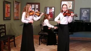 А. Вивальди Концерт ля-минор, 1-часть для двух скрипок и фортепиано