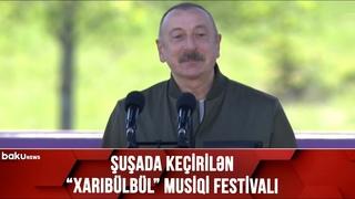 Şuşadan CANLI BAĞLANTI - Xarıbülbül musiqi festivalı - ()