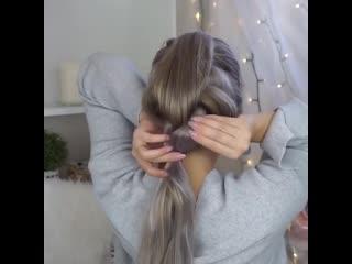 Коса на резинках