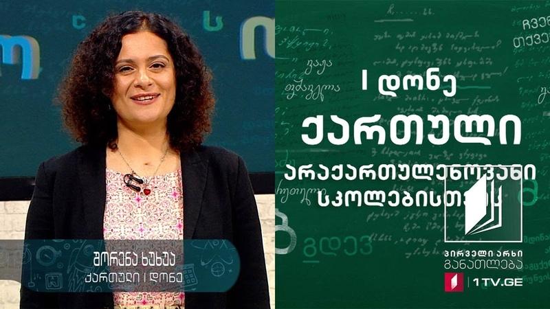 ქართული ენა 1 დონე 9 გაკვეთილი