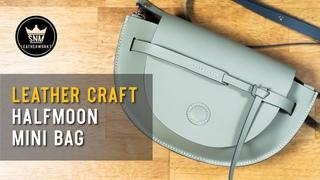 [가죽공예]반달가방 만들기+패턴 : [leather craft]making a half moon bag + PDF pattern