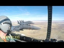 F-15 Eagle Takeoff, refueling and Maneuvers (Cockpit View)