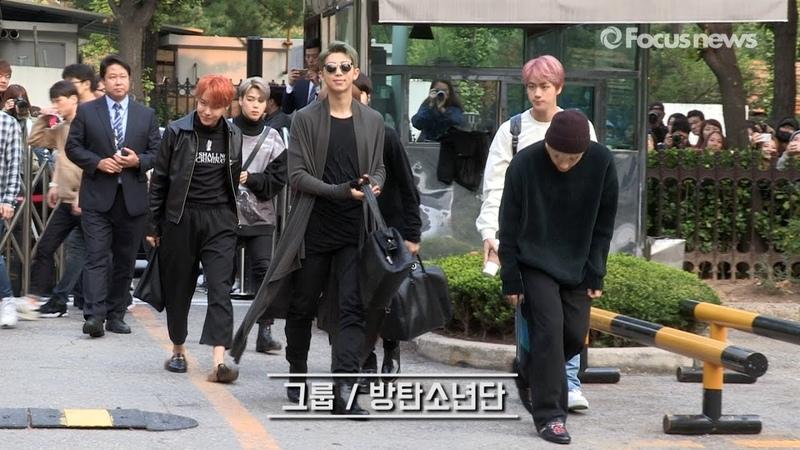 출근하는 방탄소년단(BTS) '아침부터 심쿵주의보~' [20161014 뮤뱅출근길 풀영상]