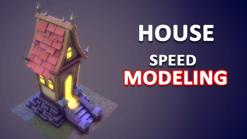 Autodesk Maya 2018 - Stylized House Speed Modeling