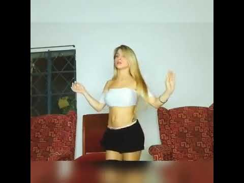 Blonde in Mini Skirt and Tattoo Shaking Big Butts and Boobs Aggressively WMD