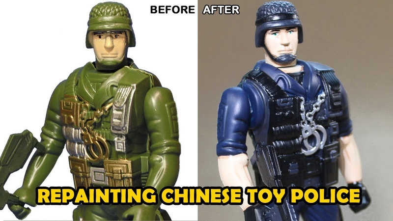Repainting Cheap Police Action Figure