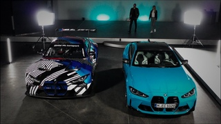BMW M4 Competition and BMW M4 GT3, 2021.