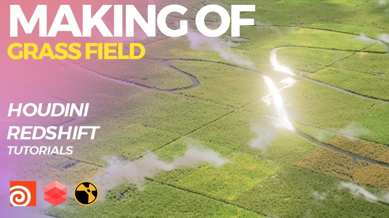 Houdini Tutorial Realistic Grass Field By Using Groom Render Redshift