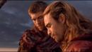 Спартак и Ганник разговаривают по душам и нападают на повозку Красса Спартак Война проклятых