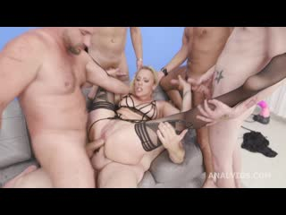 Triple Anal Monster, Brittany Bardot DAP / TP / TAP Balls Deep Session with Monster Buttrose and Creampie Swallow