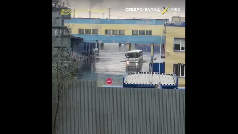 Затопило мясоперерабатывающий завод Окраина в Мурманске