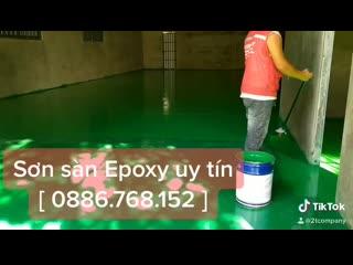 Thi công sơn sàn epoxy tại Cẩm Lệ Đà Nẵng xưởng sản xuất băng keo