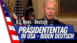 Präsident Biden grüßt die Nation zum Feiertag - Präsidententag in den USA.
