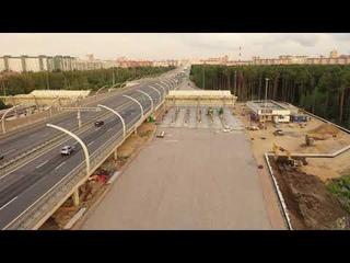 Строительство развязки Западного Скоростного Диаметра (ЗСД) с Шуваловским проспектом. июль 2021