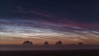 Noctilucent Clouds over Hjørring timelapse  
