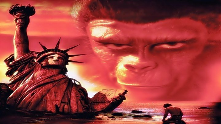 Планета обезьян 1968 фантастика приключения США Франклин Дж Шаффнер Чарлтон Хестон Родди МакДауэлл Ким Хантер Морис Эванс