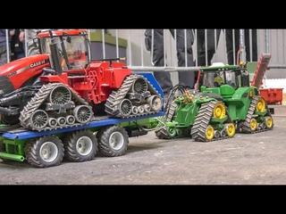 MEGA REALISTIC RC TRACTORS! JOHN DEERE! FENDT! CASE QUADTRAC! RC FARMING SCALE MIX!