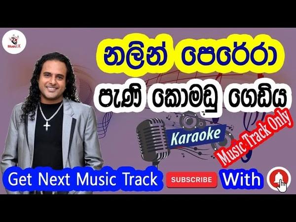 Pani Komadu Gediya - Nalin Perera (without voice ) (With Lyrics Music Track Only)