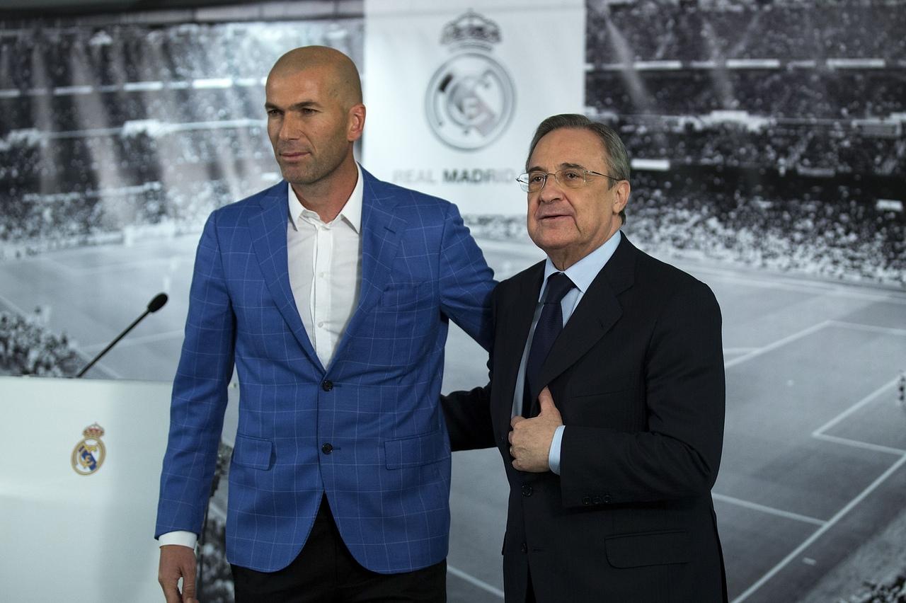 Флорентино Перес и Зинедин Зидан. ФК Реал Мадрид