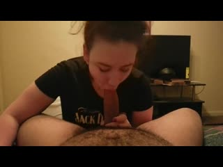 Freak loves swallowing big cock enjoys cum on her face