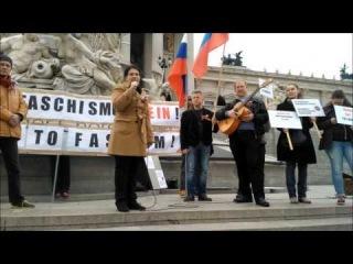 Русский антифашистский митинг в Вене.  Prevolution