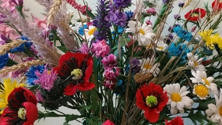 МК мак из фоамирана 1мм для букета полевых цветов