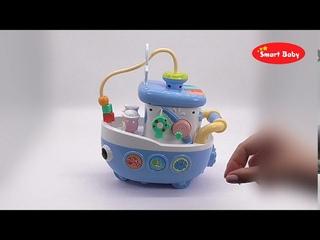 "ТМ ""Smart Baby"" Развивающая игрушка ""Кораблик"" , 29 звуков, стихов, мелодий."