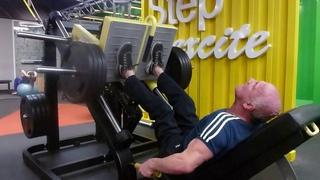 Локтионов Валерий. Жим ногами 150 кг на 18 в Алекс-фитнесе Рио