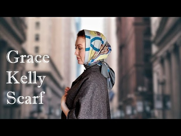 Stars in Scarves How to wear your scarf like Grace Kelly Vintage Style Headscarf and Neck Scarf