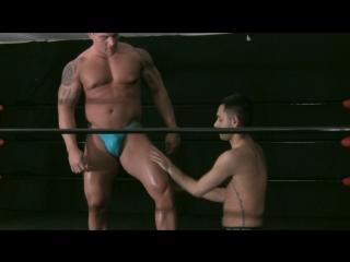 [720]  muscle domination wrestling - oil hunks 2 - braden charron vs hunter james (wrestling video (18+))