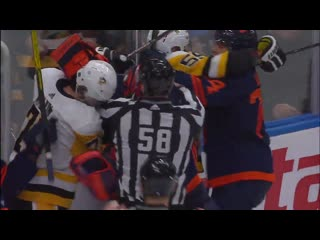 Gotta see it_ mike smith tries to fight evgeni malkin after getting run into har