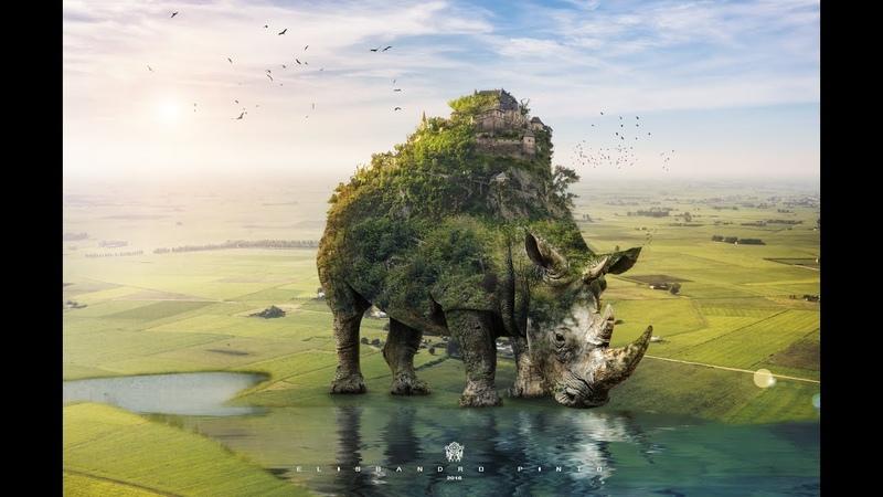Speed Art photoshop Create a Surreal Rhino