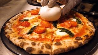 반죽부터 직접! 화덕 치즈 피자, 20년 경력 달인 /  Wood-fired oven cheese pizza master - korean street food