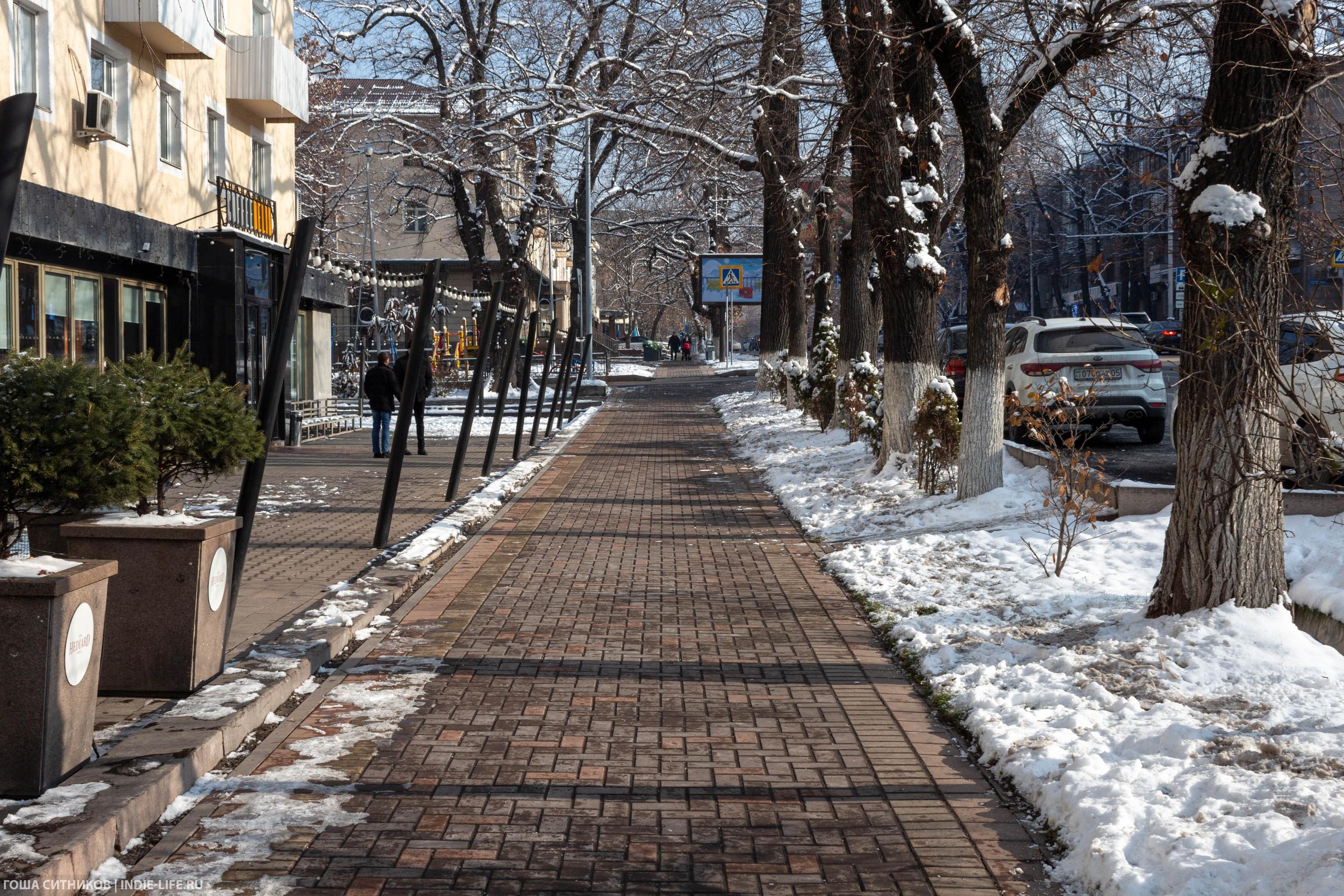 Тротуары без снега