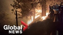 California wildfires Bobcat Fire rages on leaving charred earth as evacuation orders remain