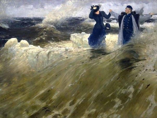 Какой простор - Илья Ефимович Репин. 1903. Холст, масло. 179 x 284,5