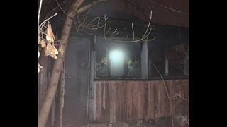В Мозыре горел деревянный нежилой дом