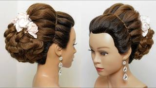 Party hairstyles. Hairstyles for medium&long hair. Messy low bun. Bridal hairstyle [Hair tutorial]
