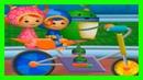 Команда Умизуми - Могучая велосипедная гонка   Учим Цвета, Учим цифры, Учим Фигуры для Детей