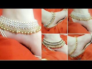Heavy Work Gold Plated, Kundan & Bridal Anklets