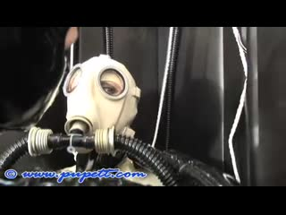 Whait gas mask