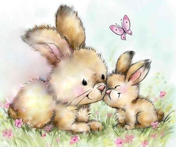 картинка маленький зайчонок улыбнулся маме информации