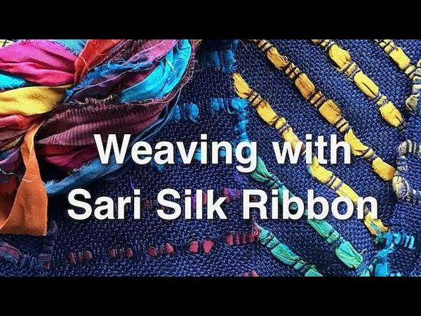 Weaving with Sari Silk Weft on a Rigid Heddle Loom