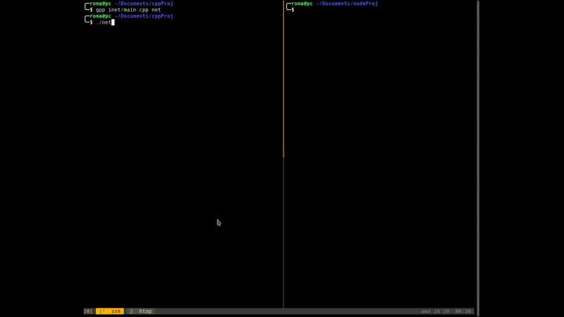 C Simple UDP Server and NodeJS UDP Client interaction