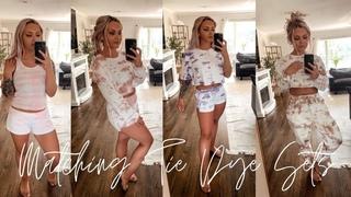 DIY TIE DYE • matching loungewear sets | Abby & Vinny
