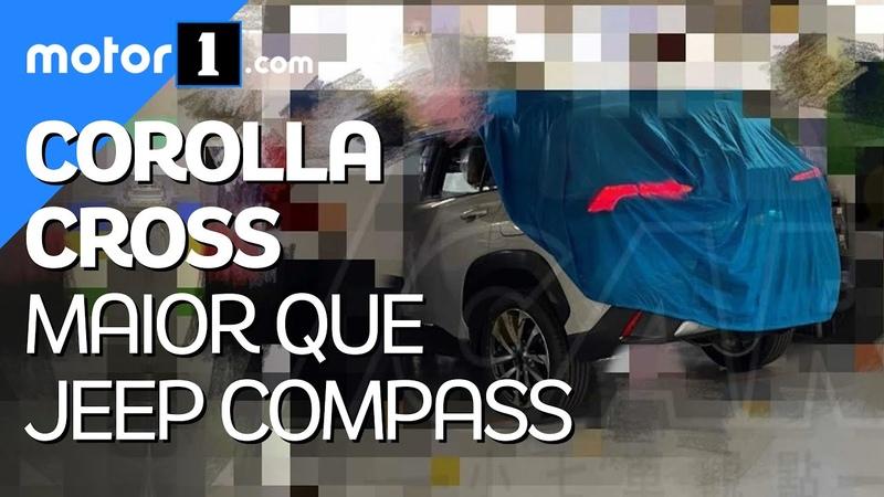 Flagra revela Novo Corolla Cross terá jeitão de RAV4 e será maior que o Compass