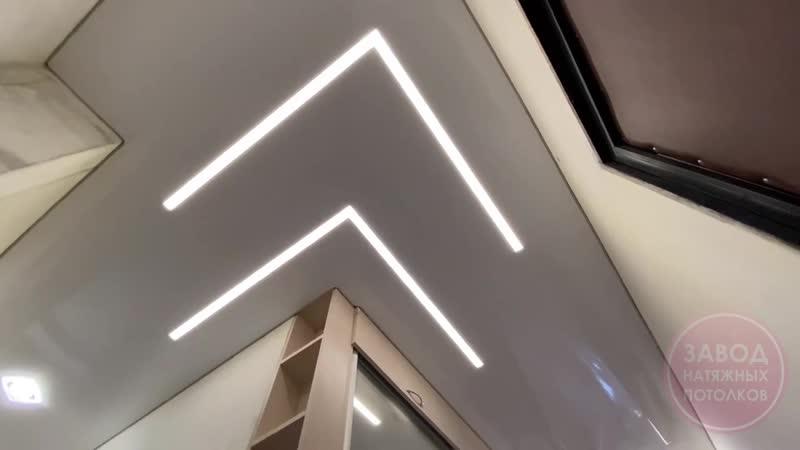 Световые линии на натяжном потолке Вологда